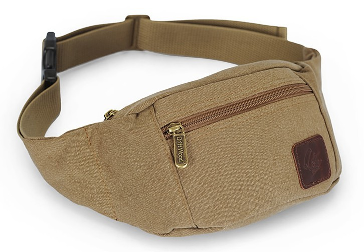 ... khaki canvas waist bag ...