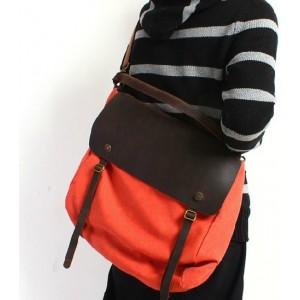 orange Messenger bags for school