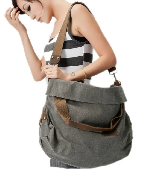 Shoulder Bag Men Canvas Messenger Women