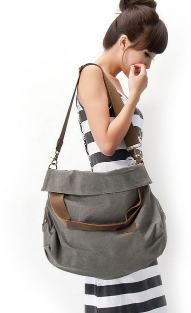 Canvas Shoulder Bag Men Messenger Women