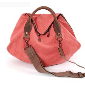 Orange messenger bag, canvas over the shoulder bag