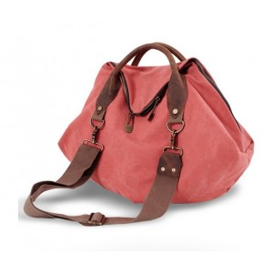 orange canvas over the shoulder bag