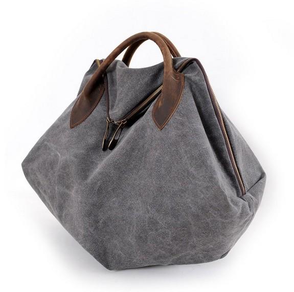 Orange messenger bag, canvas over the shoulder bag - YEPBAG