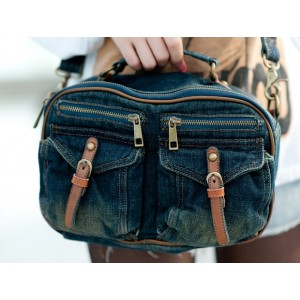 denim messenger bags women