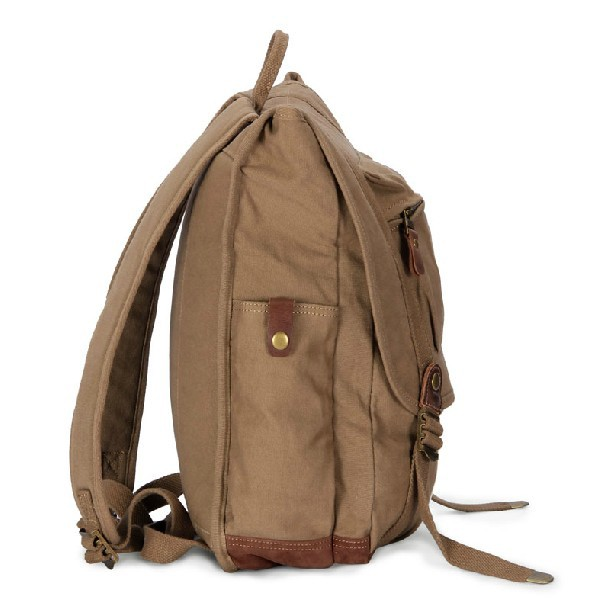 fashionable backpack vintage canvas rucksack backpack. Black Bedroom Furniture Sets. Home Design Ideas