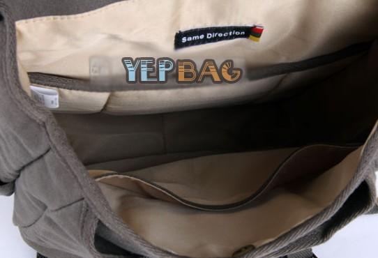 Fashionable backpack, vintage canvas rucksack backpack - YEPBAG