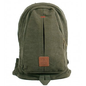army green european canvas rucksack