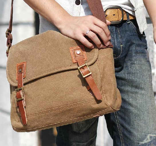 Over the shoulder travel bag, messenger book bag - YEPBAG