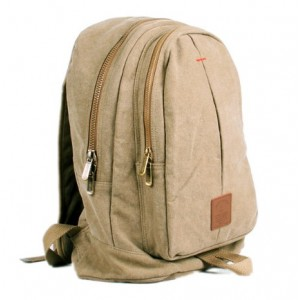 khaki european canvas rucksack