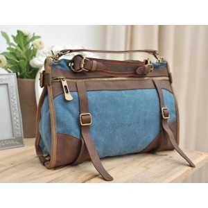 blue Canvas shoulder bags for men