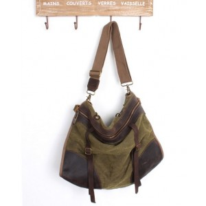green urban messenger bag