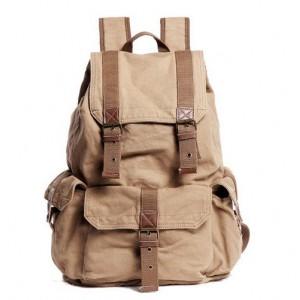 6be4d2bf3b8a ... khaki Fashionable canvas backpacks for women khaki quality backpack  black ...
