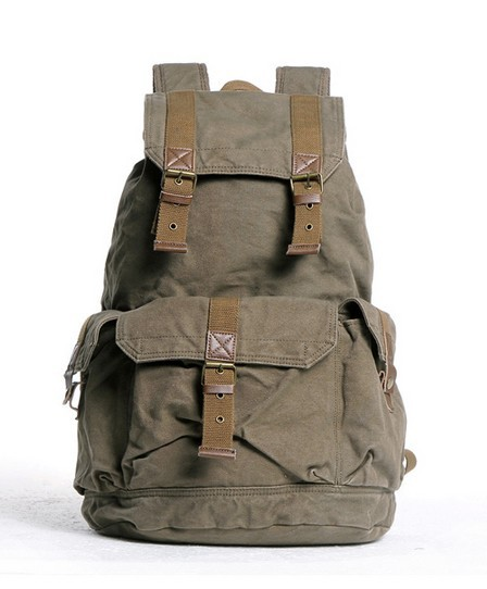 dacf3b671729 ... black quality backpack  army green Fashionable canvas backpacks for  women ...