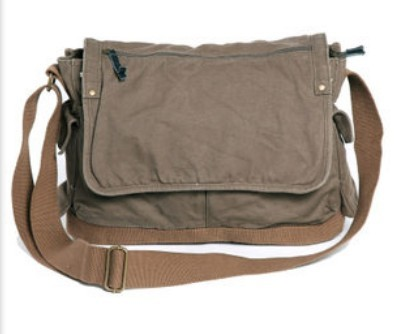 Over The Shoulder Book Bag Army Green