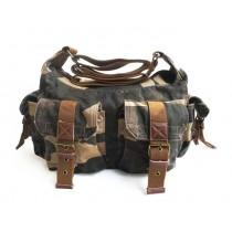 Messenger shoulder bags, canvas and leather messenger bag