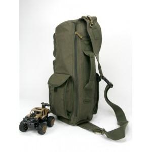 army green over shoulder backpack