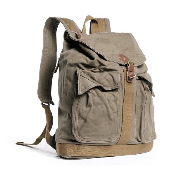 Canvas rucksacks for men, big backpacks for school - YEPBAG