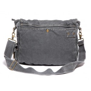 grey military canvas satchels