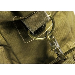 yellow green military canvas satchels