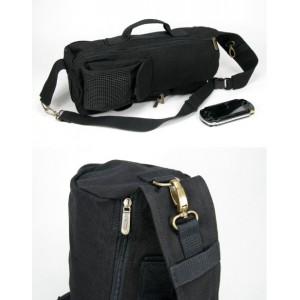 black over shoulder backpack