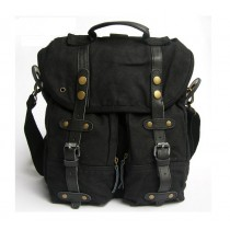 Mens vintage canvas backpack, men s messenger bag canvas