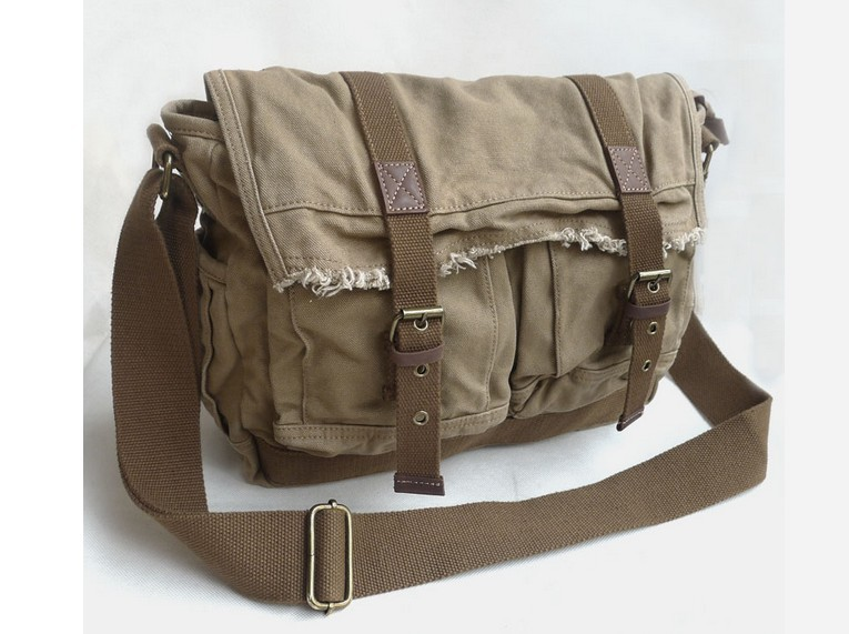Canvas shoulder bag schoolbag, big over the shoulder bag - YEPBAG