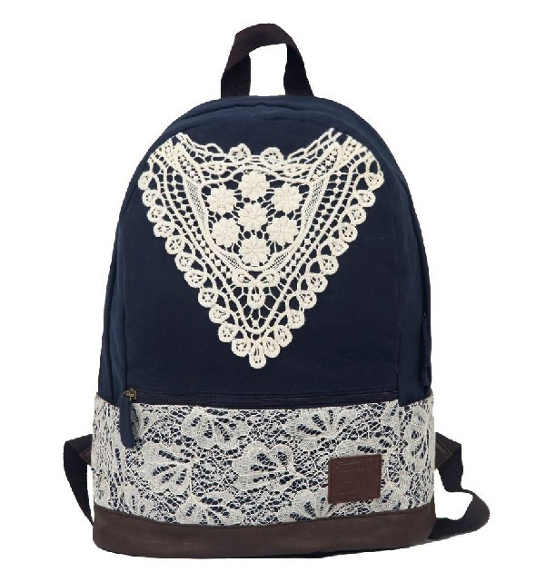 cd18c9819361 Canvas backpack for teenage girls  cute canvas backpacks for school ...