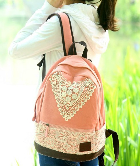 Canvas backpack for teenage girls, cute canvas backpacks for ...