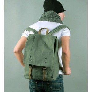 mens Canvas computer backpack