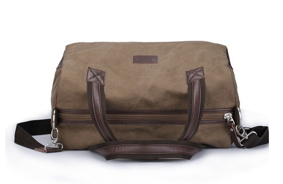 Mens Canvas Messenger Bag Coffee Weekend Bags For Men