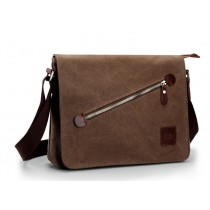 Fashion shoulder bag, black canvas messenger bags for men