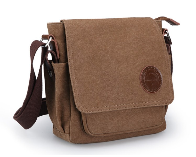Cheap canvas messenger bags for men, small messenger bag - YEPBAG