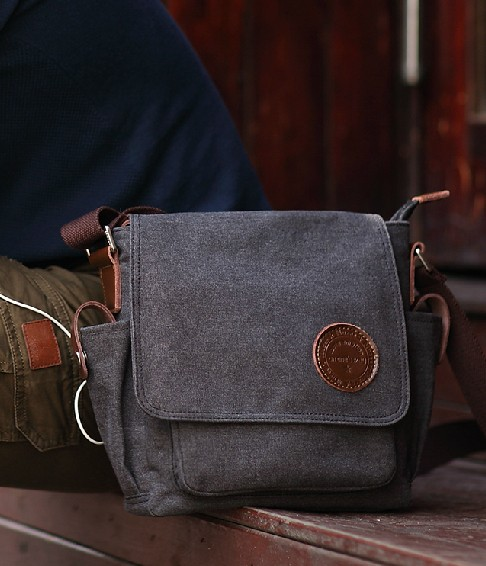 ... black Cheap canvas messenger bags for men  black small ... 2f6a0d74a6155