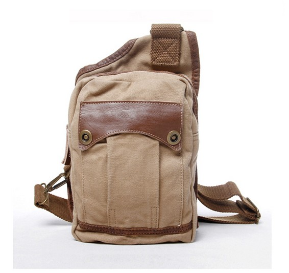 a891c5c63b Mens single strap backpack  cotton canvas sling bag ...