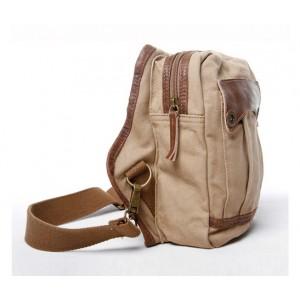 Mens single strap backpack khaki