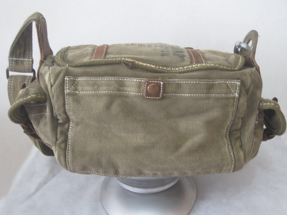 Vintage travel shoulder bags  small canvas messenger bag  army green canvas  messenger bag ... 98ebd79708f53