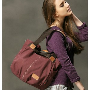 purple Western style handbag