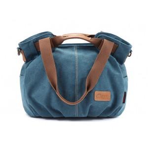 blue Western style handbag