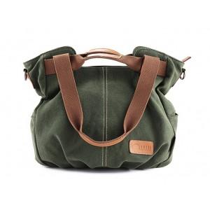 green Western style handbag