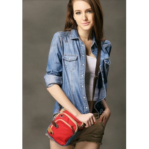 Over the shoulder purse red