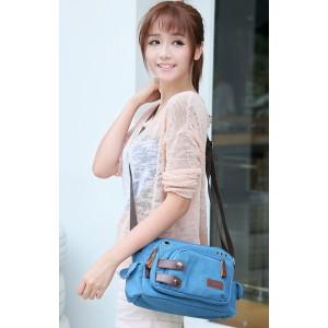 blue cross body messenger bags