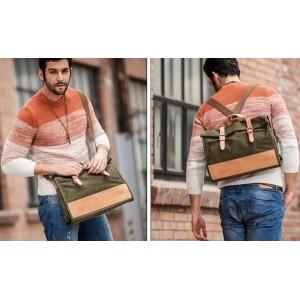 Satchel shoulder bag army green
