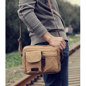 khaki man shoulder bag