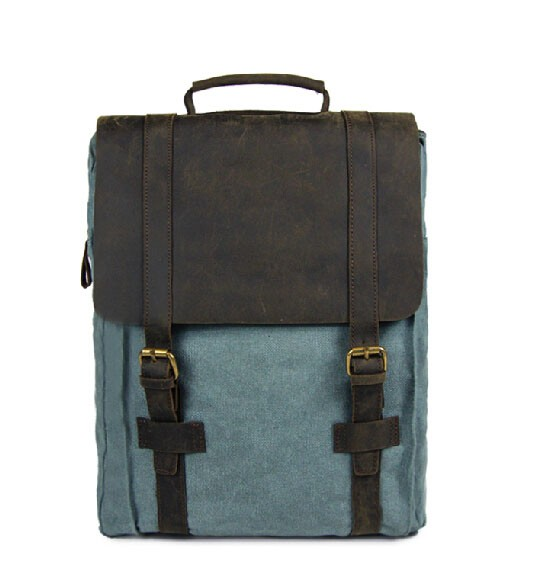 b2b46f4e6f Canvas satchel backpack  bookbags ...