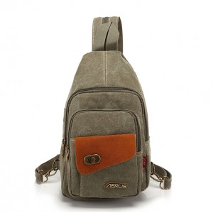 army green convertible backpack shoulder bag