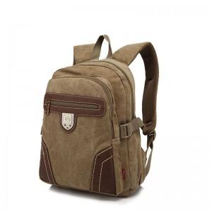 khaki vintage canvas rucksack