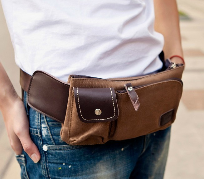 Mens belt pouch bags