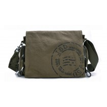 Military canvas messenger bag, shoulder bag men