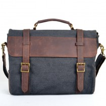 Men and women's Shoulder canvas bag, Genuine Leather vogue bags