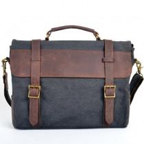 Men and women's Shoulder canvas bag, Genuine Leather vogue bags